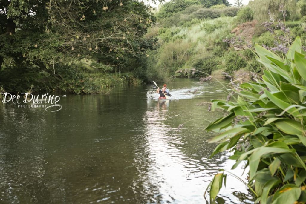 Canoeing on the beautiful Mooi River