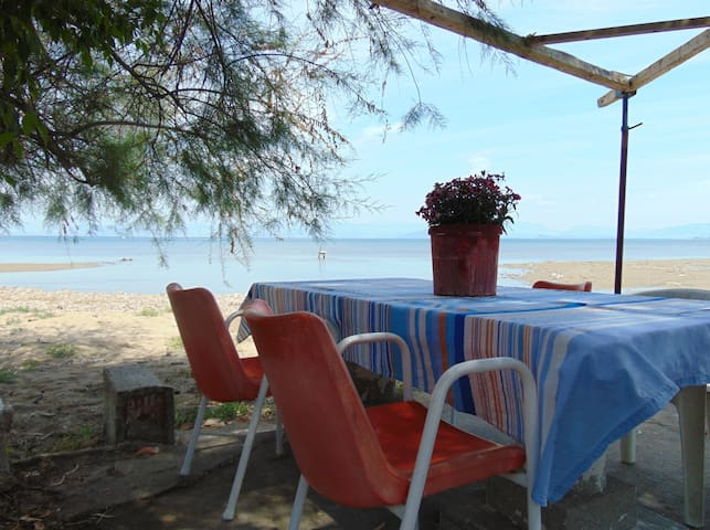 Seaside quiet, secluded family studio for 2-4p - Perivoli - Daire