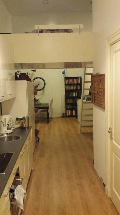 Vide met 2-persoonsbed en keuken