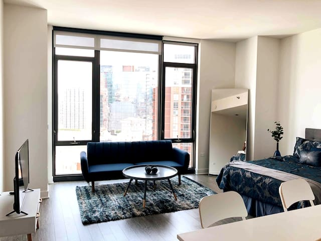 Luxury Downtown Studio w Lake Views (sleeps 3)