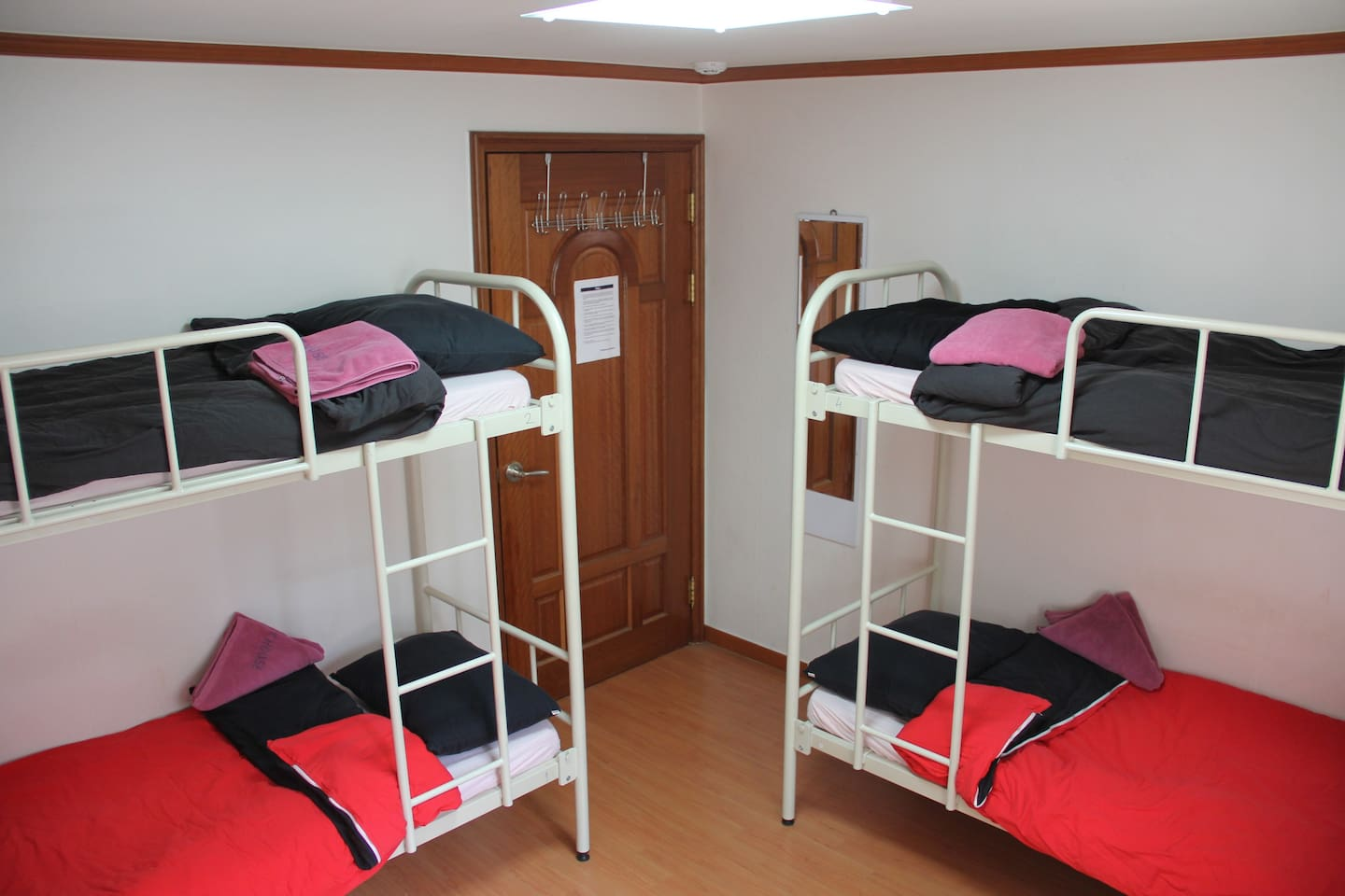 Room photo and bed