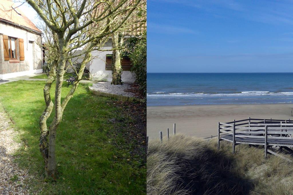 entre terre et mer la campagne 700 m de la plage cottages louer oye plage nord pas de. Black Bedroom Furniture Sets. Home Design Ideas
