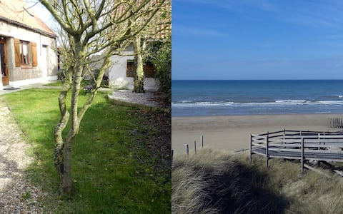 Between Land and Sea, the countryside 700 m from the beach