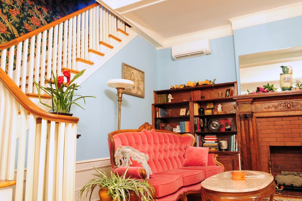 staircase up to the guest quarters,