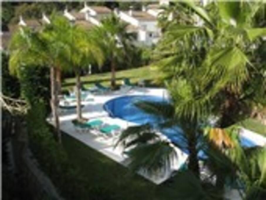 The pool at Las Mozas