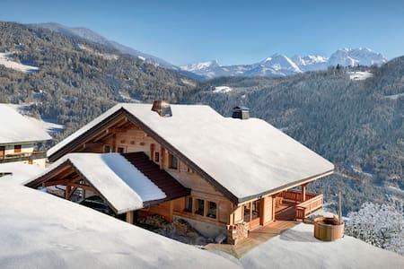 OVO NETWORK - Vast chalet with hot tub, sauna, terrace and garden - Les Clefs - Hytte (i sveitsisk stil)