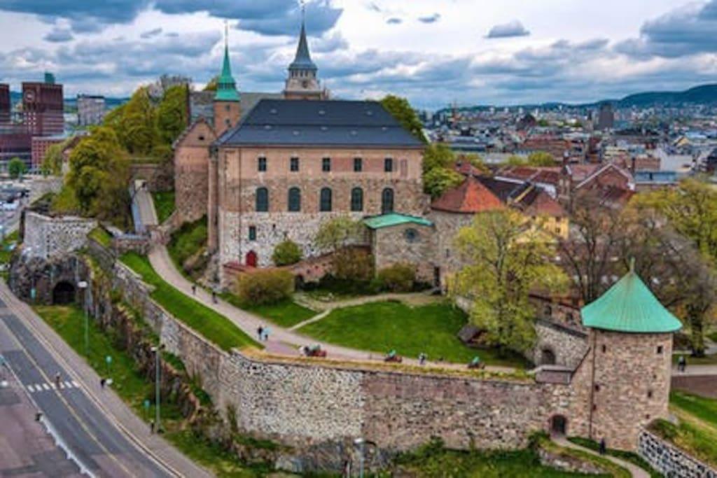 Akerhus Fortress. A stonethrow away