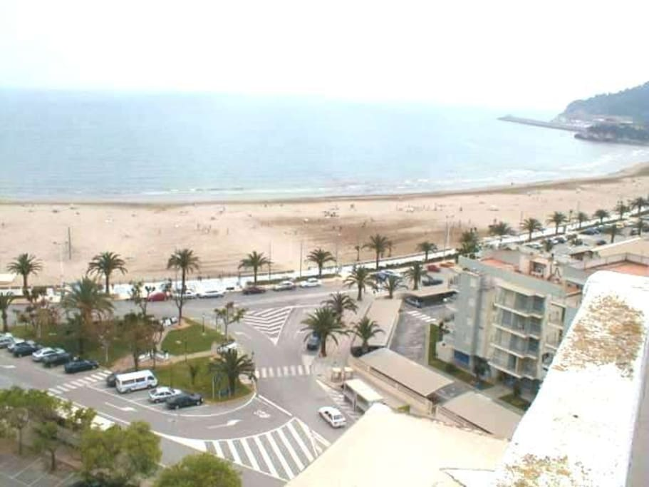 This are the views from the rooftop of the building. Just steps from the beach