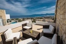 Roof terrace with seating area where you can relax and enjoy the views