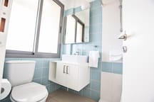 Main Family Bathroom with bath, shower and WC