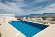 Large private pool overlooking the views.