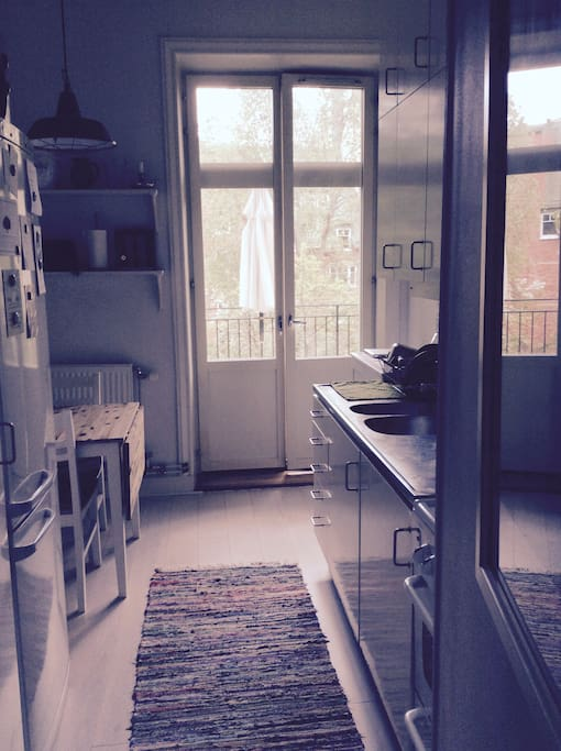 cosy kitche with balcony