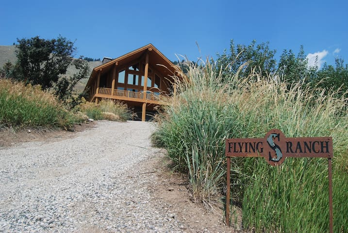 Looking up at the Flying S Ranch