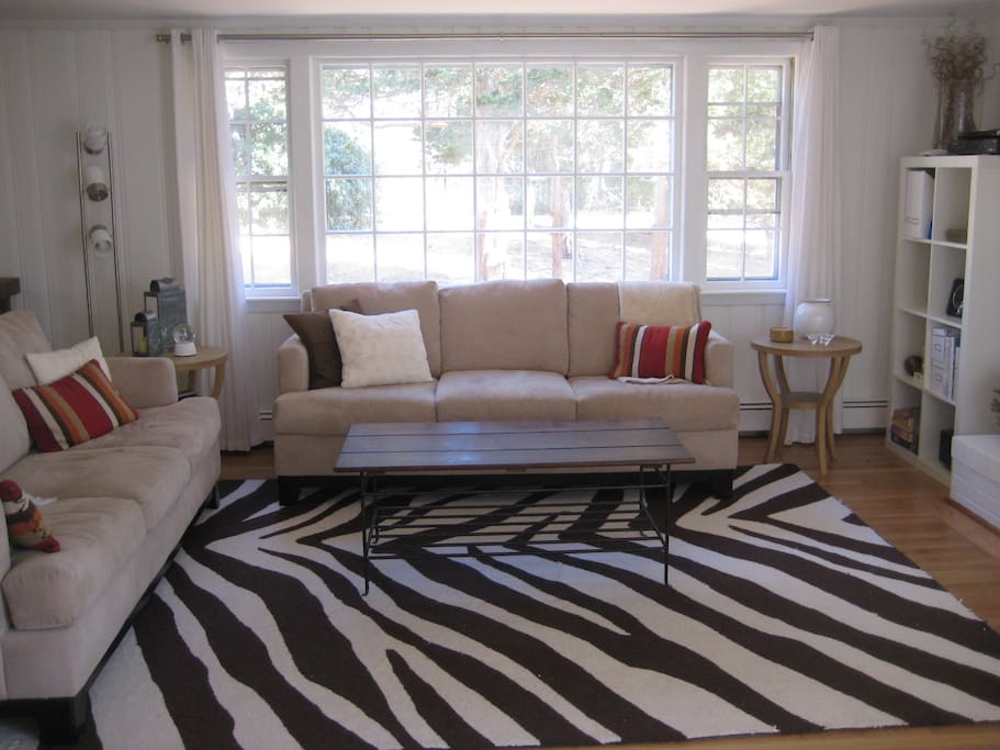 Two comfy sofas in the living room.