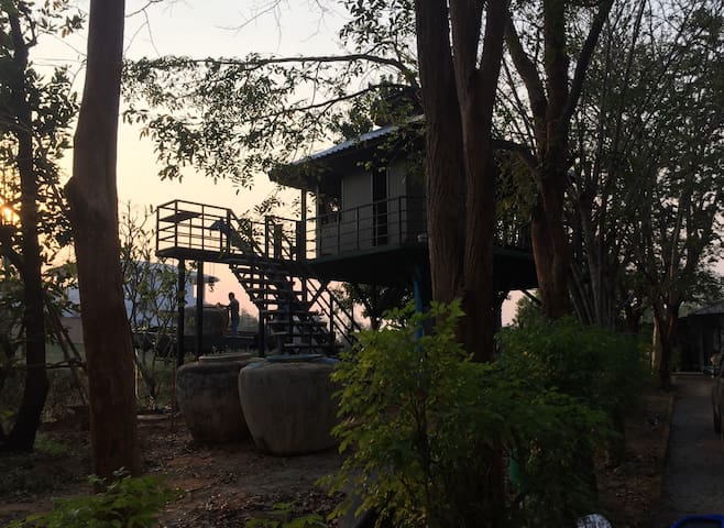 JungJa hut#Treehouse@River Kwei - Kanchanaburi - House