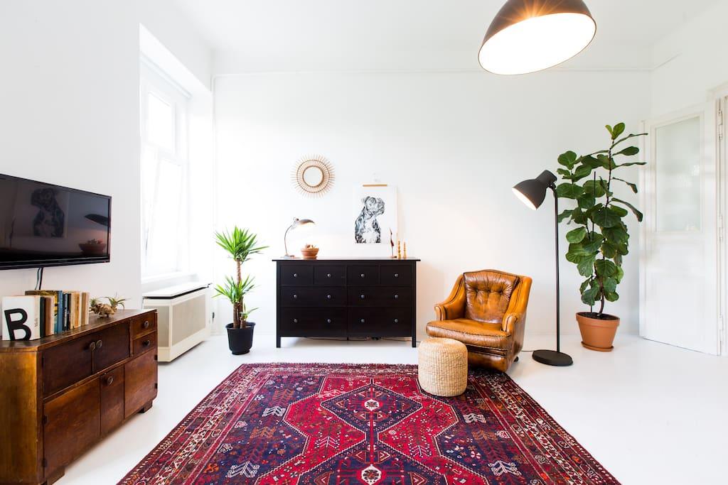 main room of studio flat