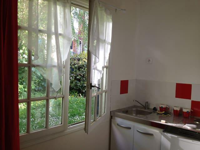 studio au vert tout près de la gare - Rouen - Apartamento