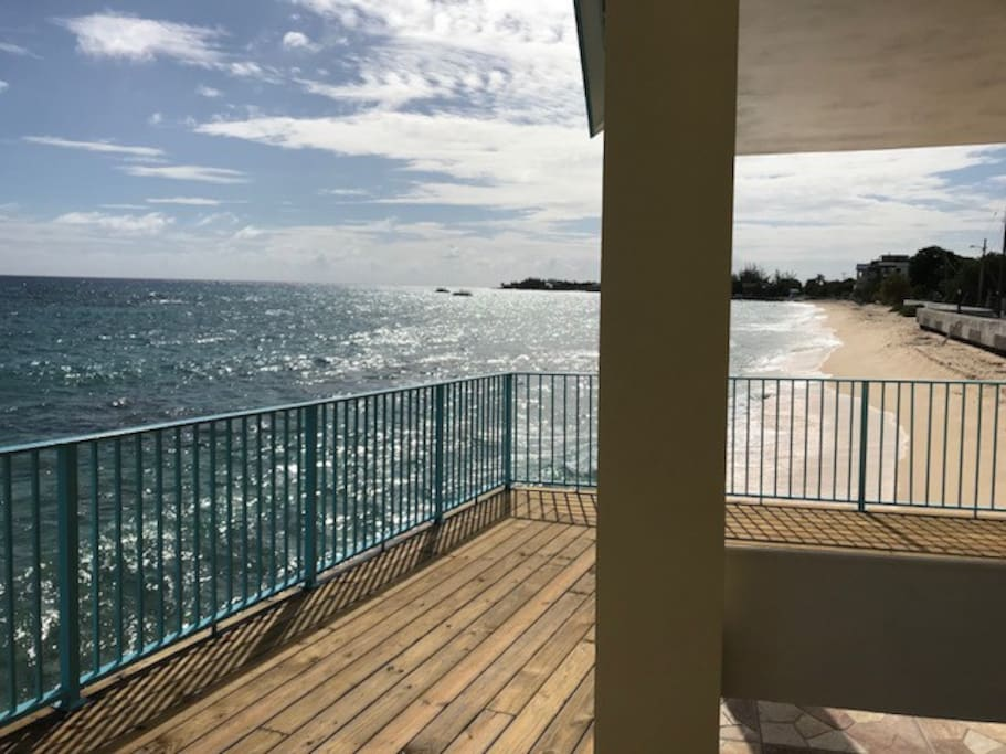 View from beachfront gazebo