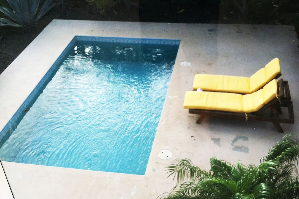Pool view from second floor