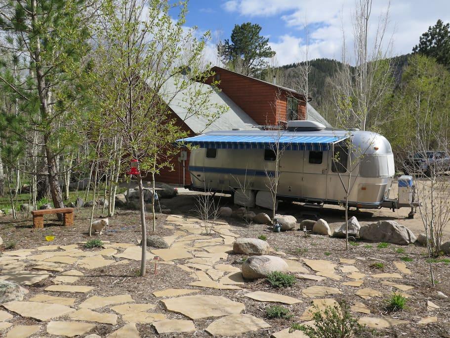 Vintage airstream in the aspens camping cars caravanes louer salida co - Location caravane vintage ...
