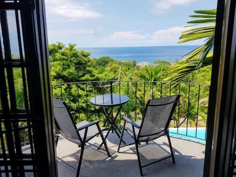 Idyllisk havsutsikt lägenhet @ privat villa 🌴