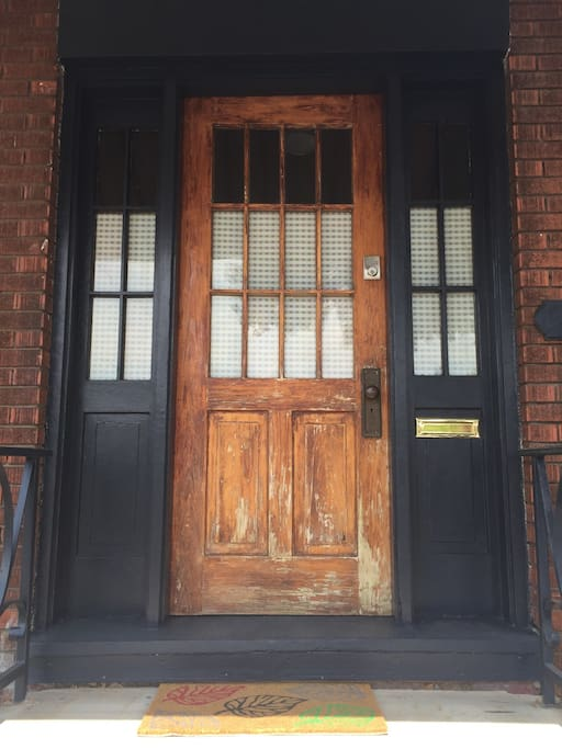 Front door with key pad entry