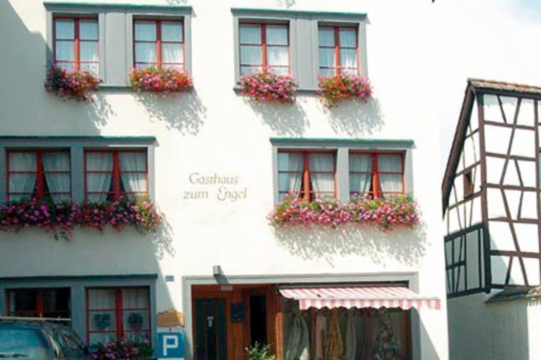 Housefront with entrance and parking. Vorplatz & Autoabstellplatz