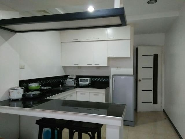 fully equipped kitchen - fridge, microwave, hotplate etc
