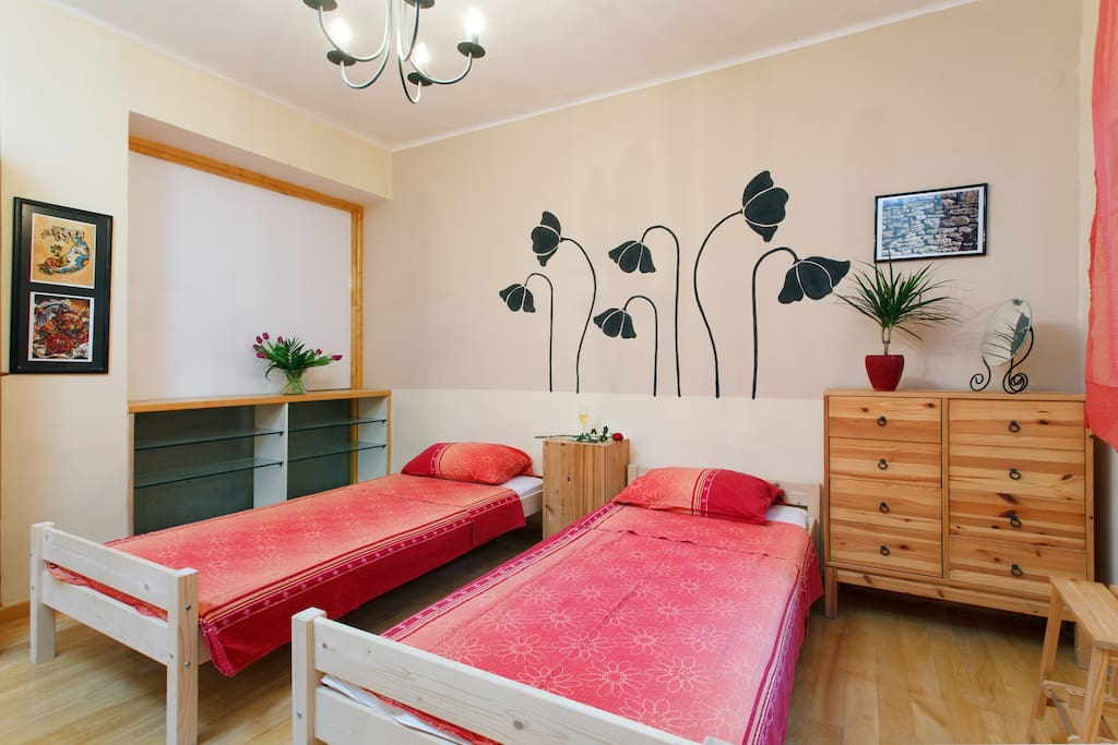 Bedroom - two beds