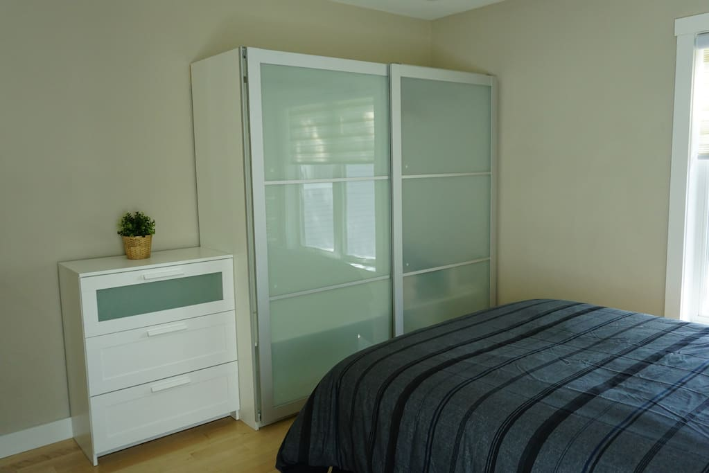 Plenty of storage in master bedroom.