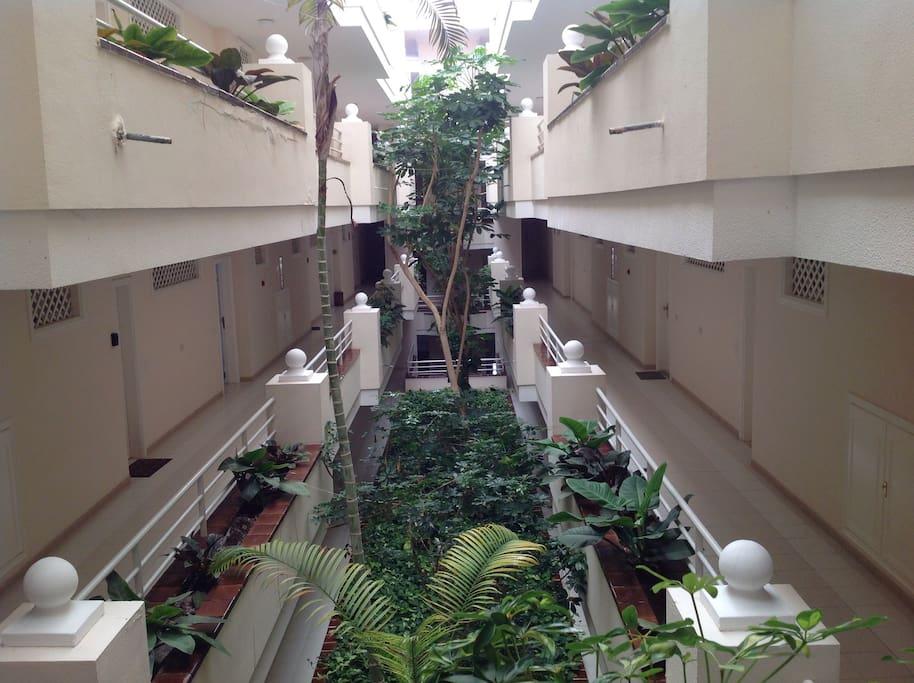 Interior of the building / Interno edificio