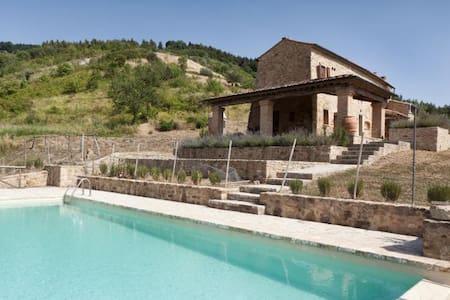 Villa with stunning views, air conditioning, pool - Volterra - Villa