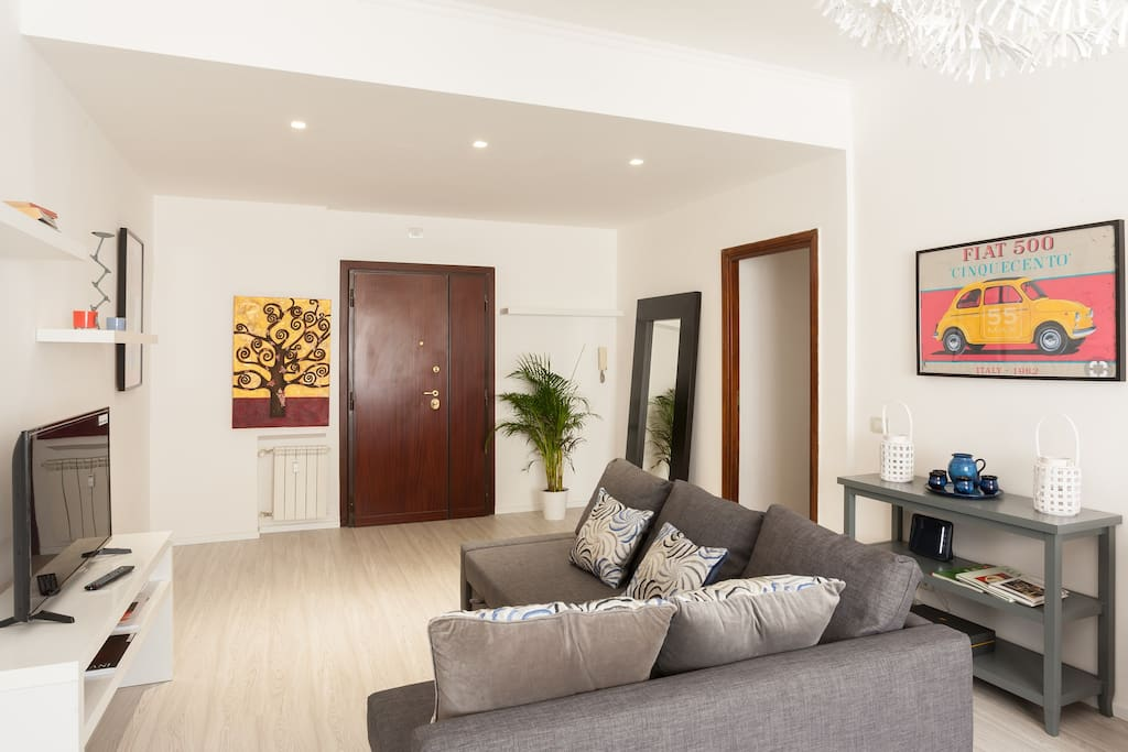 The Living room - The perfect relax area with sofa bed x2 & TV