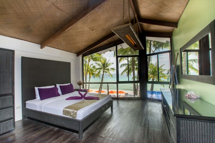 Breathtaking sunset view room on White Beach - Malay - Leilighet