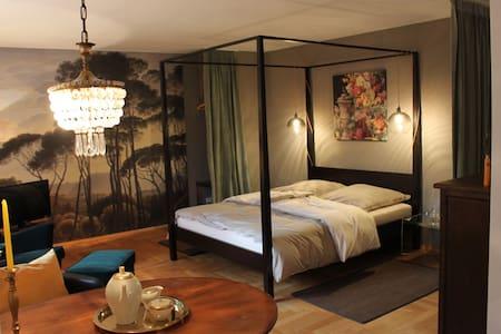 Elegant apartment with garden view