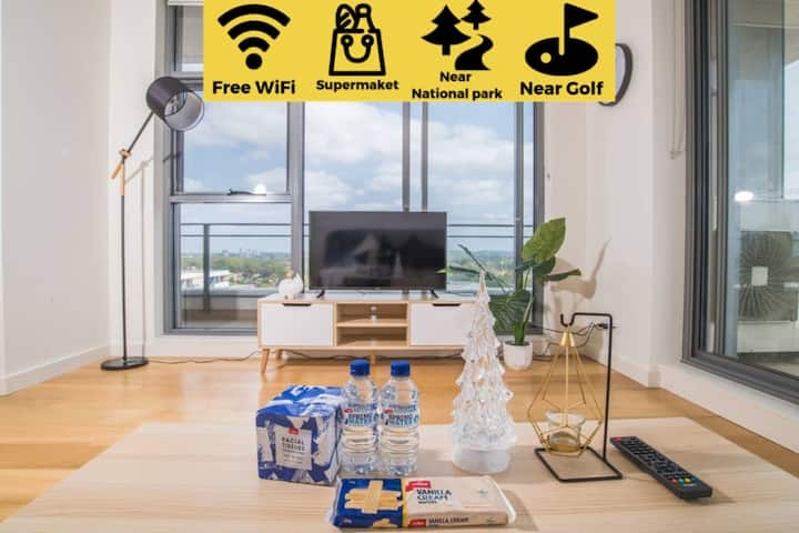 17th level 1bed1bath APT Macquaire park+wifi+view