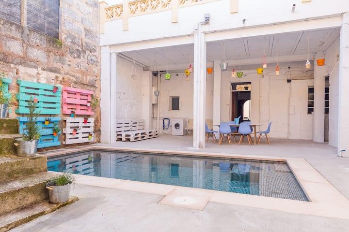 La Penya. Town house with pool in Sa Pobla
