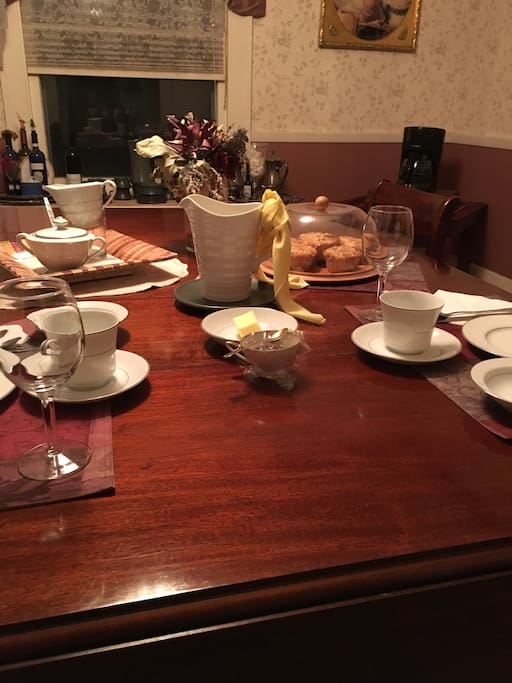 Breakfast time is always nourishing with scrumptious food and engaging conversation!