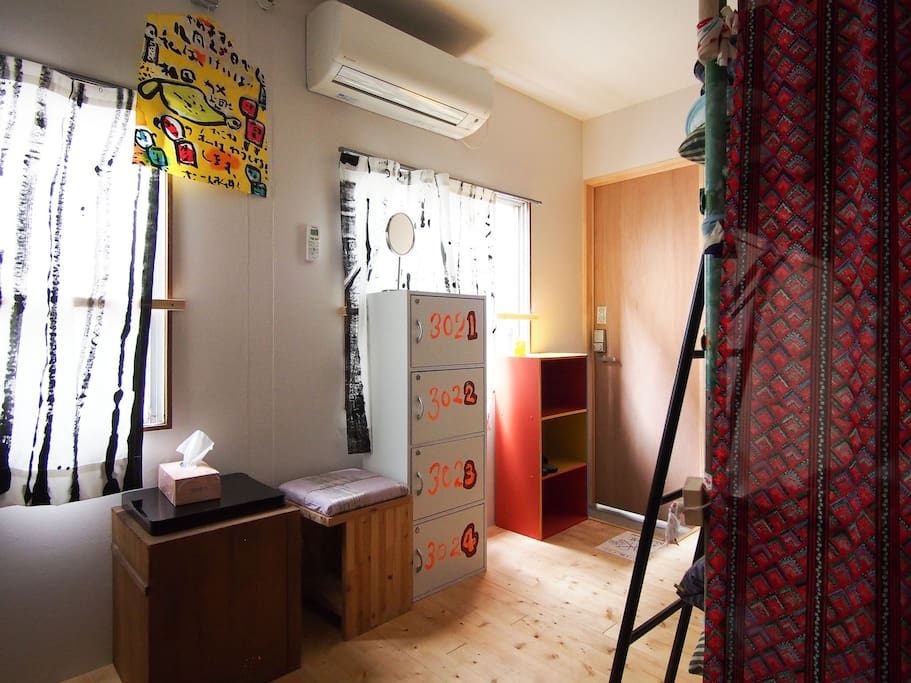 4ベッドドミトリーです An example of 4 bed dormitory room.