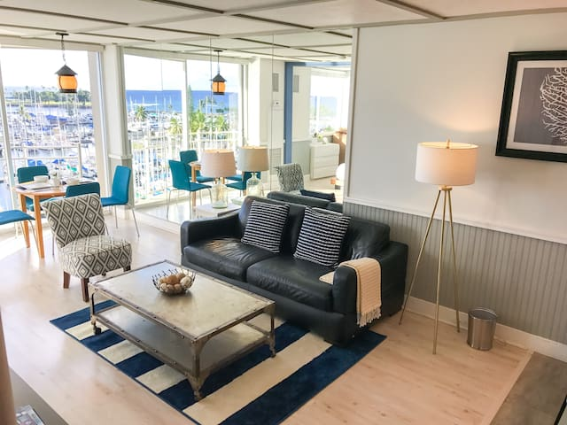 Views continue in the spacious living room