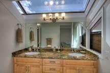 Double sink vanity in both bathrooms
