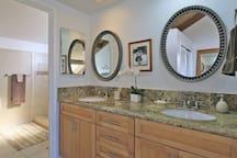 Upstairs vanity