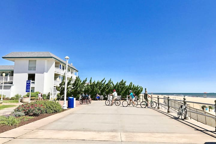 Rent a bike and go for a ride on the Boardwalk.