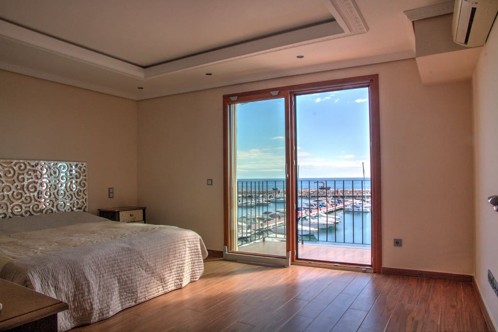 Very large bedroom with private terrace with great views