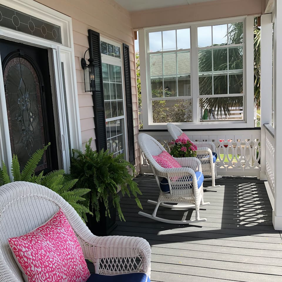 Low Country Cottage Front Porch