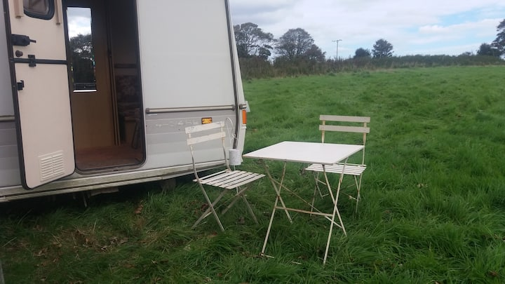 Trehale Farm Caravan in peaceful setting.