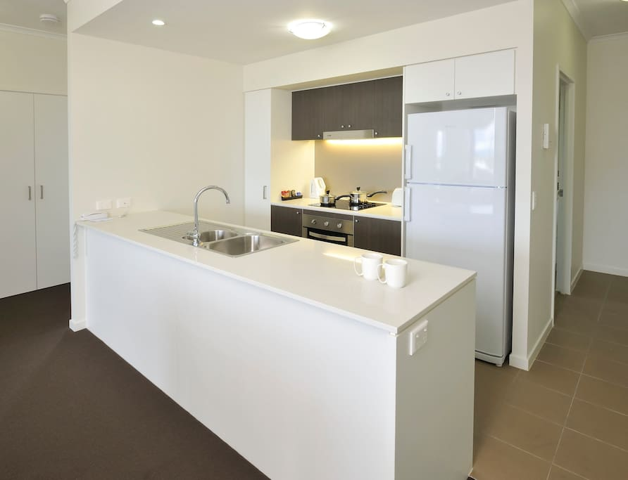 Contemporary and spacious apartment offers all the conveniences you need while away from home, including fully equipped kitchen and laundry, WIFI, large balconies and air-conditioning.