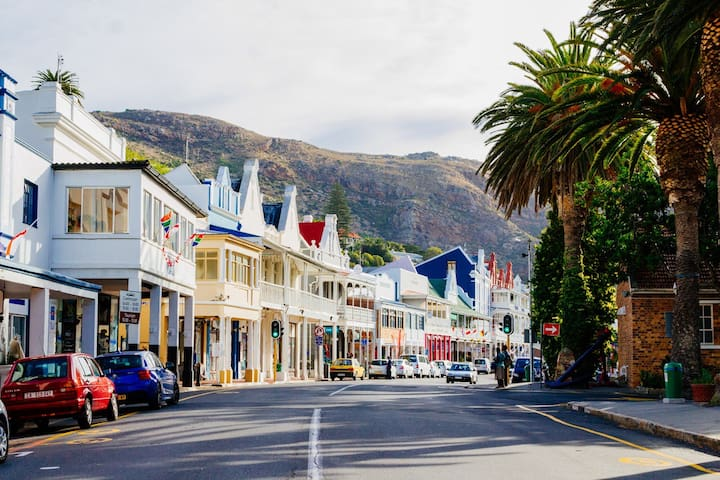 The quintessential town on the Cape Peninsula will be at your door step. This is walking distance from our place! A 5 minute drive from the Harbour Bay Mall!