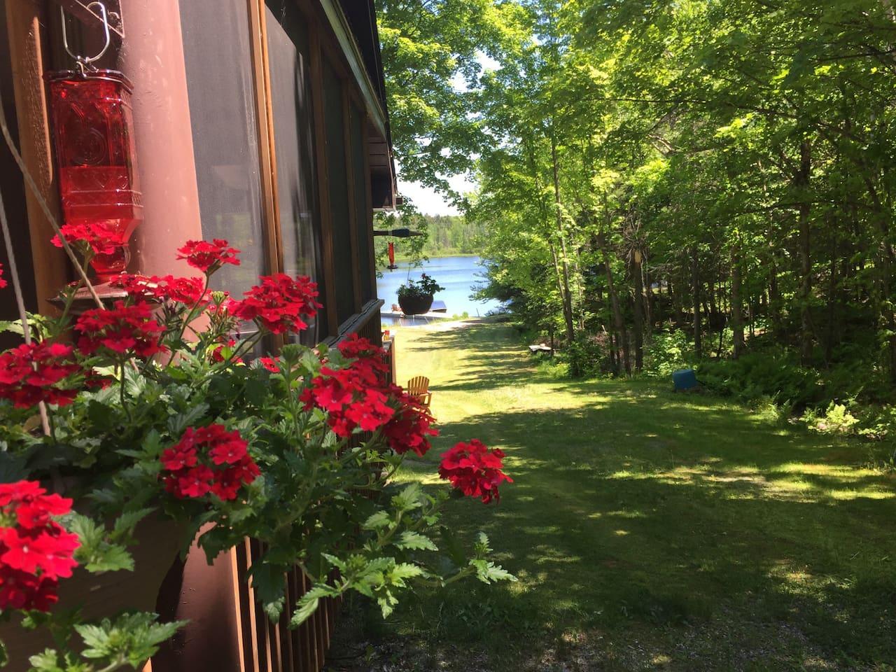 long views of the lake.