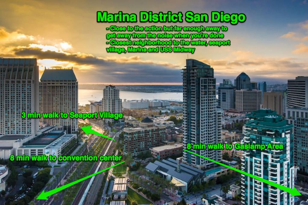 Welcome to San Diego's cleanest, safest, and most sought after neighborhood in downtown San Diego: The Marina District.